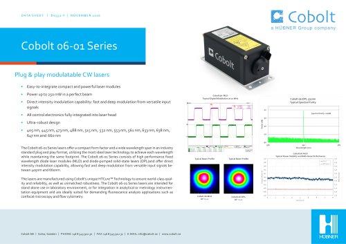 Cobolt 06-01 Series lasers