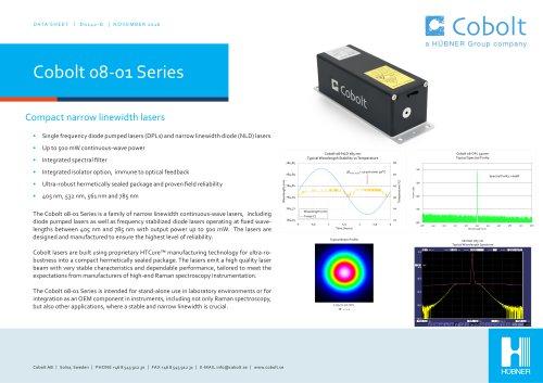 Cobolt 08-01 Series lasers