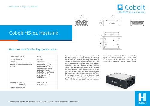 HS-04 Laser Head Heatsink (with fan)