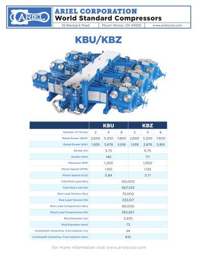 KBU & KBZ Reciprocating Gas Compressors - Ariel - PDF