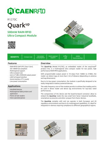 Quark Up Datasheet