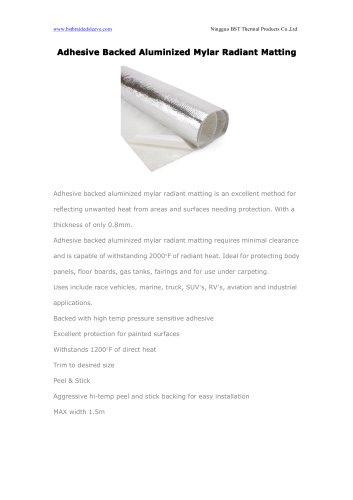 Adhesive Backed Aluminized Mylar Radiant Matting