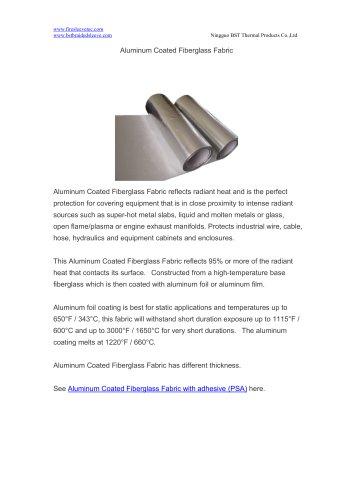 BSTFLEX Aluminum Coated Fiberglass Fabric heat resistant blanket