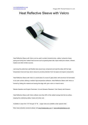 BSTFLEX aluminum fiberglass heatshield Heat Reflective Sleeve with Velcro
