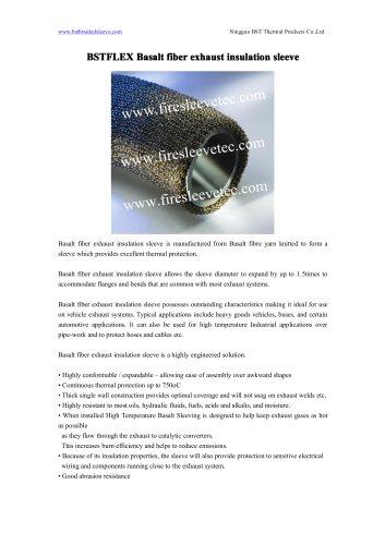 BSTFLEX Basalt fiber exhaust insulation sleeve