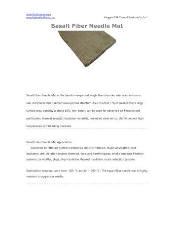 BSTFLEX Basalt Fiber Needle Mat for thermal insulation