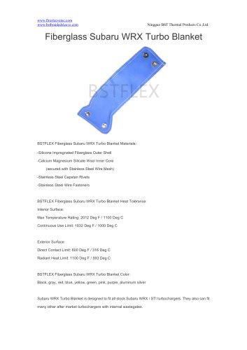 BSTFLEX Fiberglass Subaru WRX Turbo Blanket - turbo heat shield