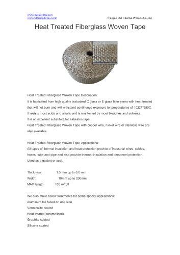 BSTFLEX heat clean Heat Treated Fiberglass Woven Tape