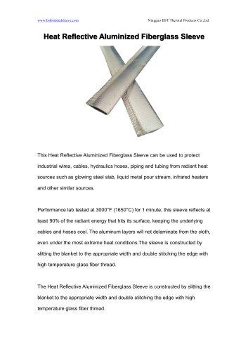 BSTFLEX Heat Reflective Aluminized Fiberglass Sleeve