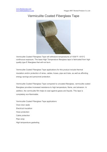 BSTFLEX heat resistant Vermiculite Coated Fiberglass Tape