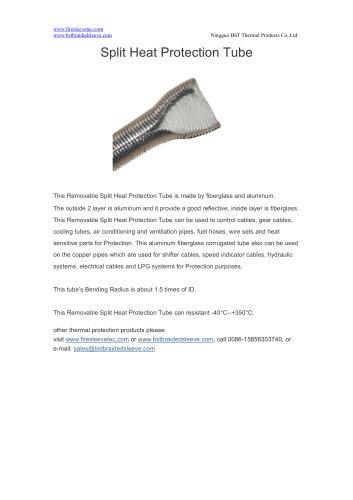 BSTFLEX heat shield Split Heat Protection Tube