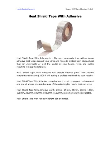 BSTFLEX HEAT SHIELD TAPE WITH ADHESIVE