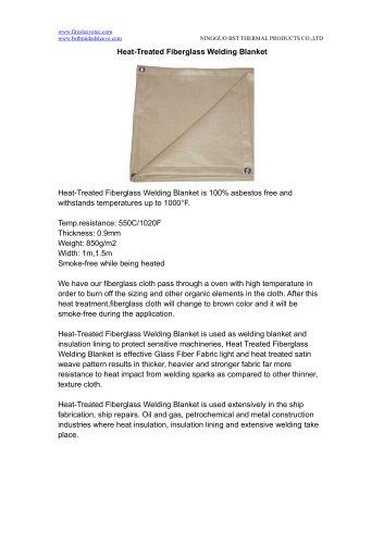 BSTFLEX Heat-Treated Fiberglass Welding Blanket
