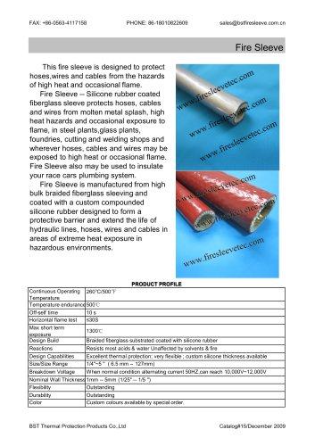 BSTFLEX Silicone coated fiberglass braided fire sleeve