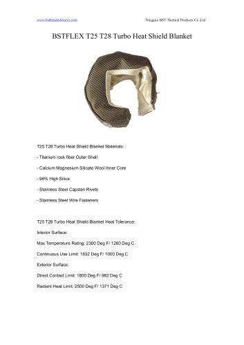 BSTFLEX T25 T28 Turbo Heat Shield Blanket