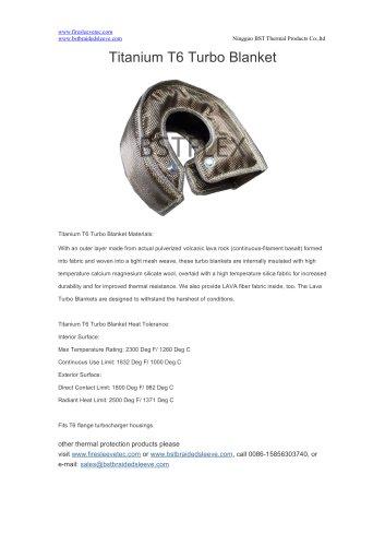 BSTFLEX Titanium T6 Turbo Blanket - LAVA heat shield