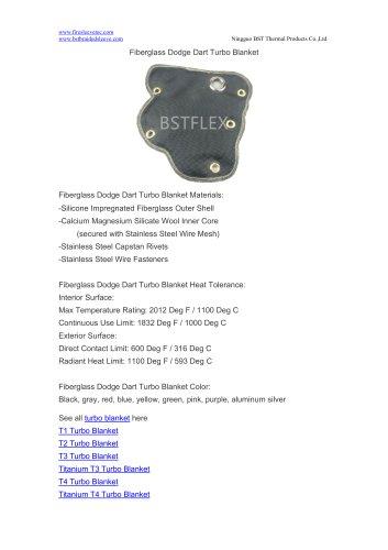 BSTFLEX turbo heat shield Fiberglass Dodge Dart Turbo Blanket