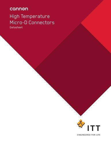 High Temperature Micro-D Connectors