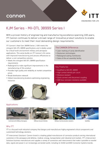 KJM Series - Mil-DTL 38999 Series I
