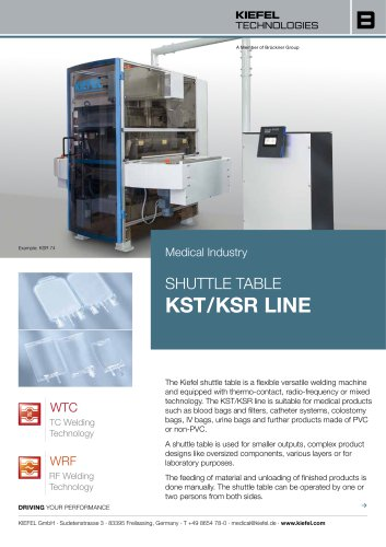 SHUTTLE TABLE KST / KSR LINE