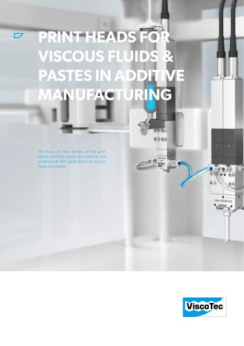 Print heads for viscous fluids & pastes in 3D printing