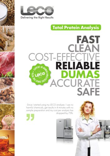 Total Protein Analysis solutions from LECO