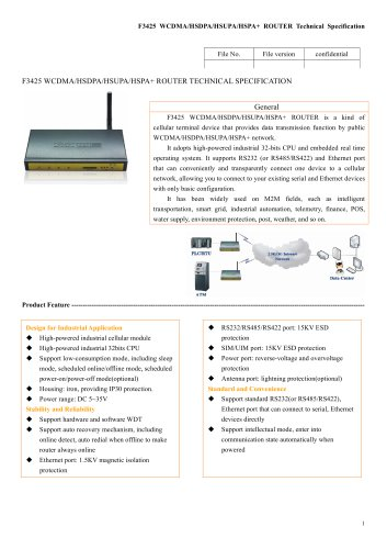 3G Industrial WCDMA ROUTER F3425