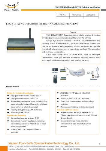 4G Industrial wireless router F3825
