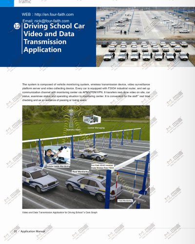 Driving school cars Video and data transmission application