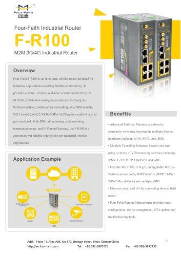 F-R100 3G 4G Cellular Router Din Rail bonding TECHNICAL SPECIFICATION V1.0.0