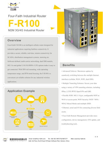 F-R100 4G Industrial Cellular Router with Din Rail