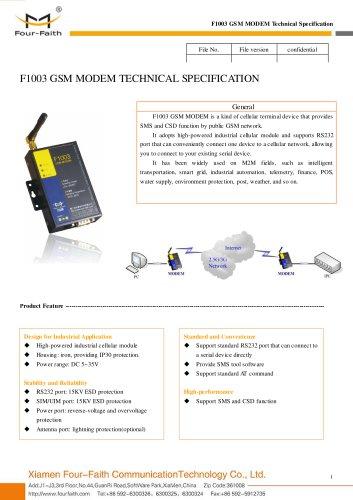 F1003 Industrial GSM MODEM
