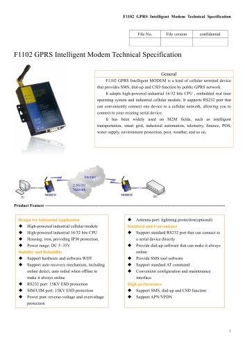 F1102 GPRS Intelligent Modem