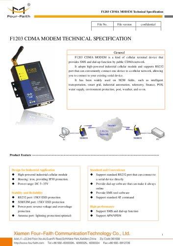 F1203 Industrial CDMA MODEM