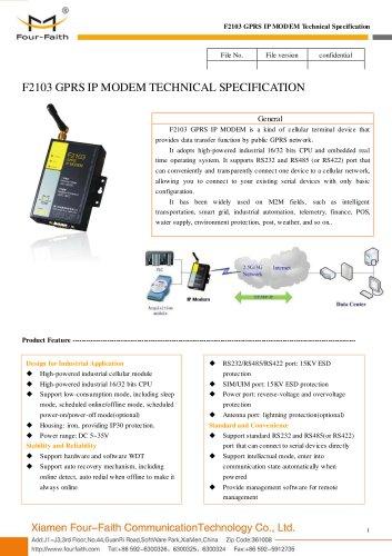 F2103 Industrial GPRS IP MODEM