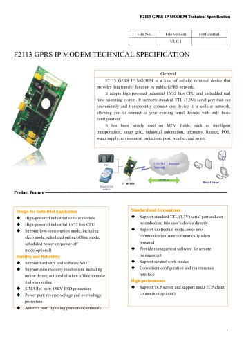F2113 GPRS Industrial IP MODEM