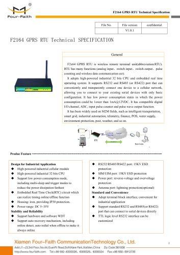 F2164 GPRS RTU,Industrial Wireless RTU