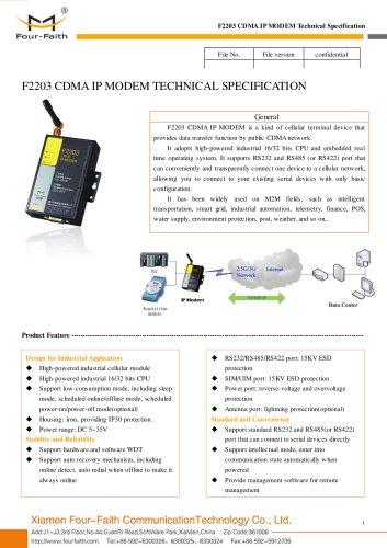 F2203 industrial CDMA IP MODEM