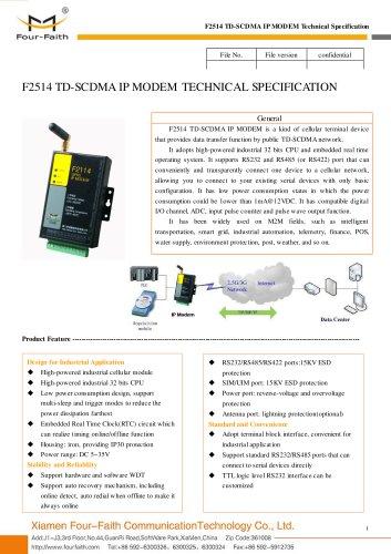 F2514 Industrial TD-SCDMA IP MODEM