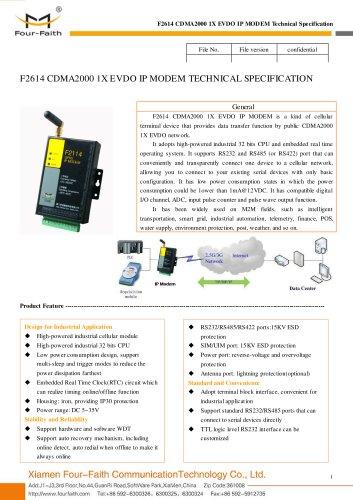F2614 Industrial EVDO IP MODEM