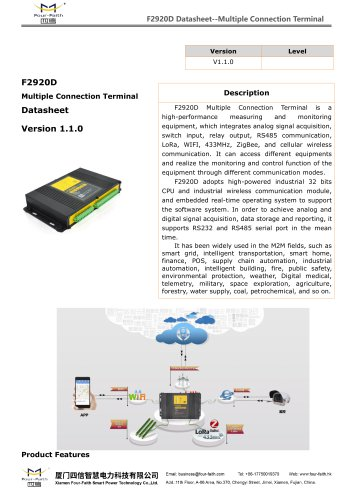 F2920D Multiple Connection Terminal