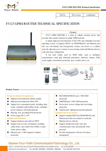 F3123 Industrial 3g GPRS ROUTER