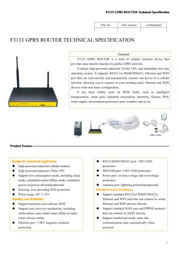 F3133 Industrial GPRS ROUTER