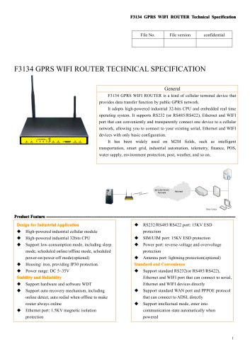 F3134 industrial wireless router