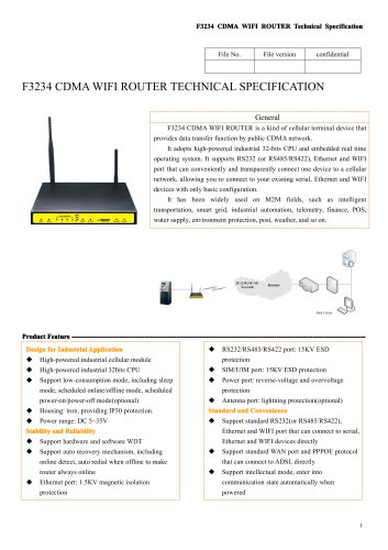 F3234 Industrial m2m 4G CDMA ROUTER