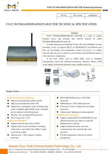 F3423 Industrial WCDMA&HSDPA&HSUPA ROUTER