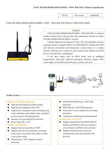 F3424 Industrial wifi router,wireless modem