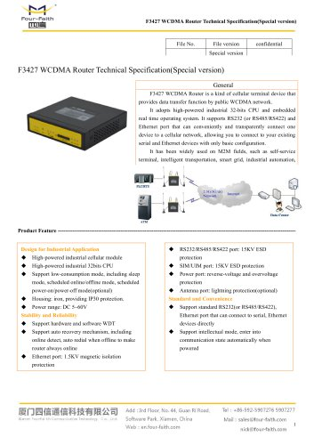 F3427 Industrial Design WCDMA ROUTER