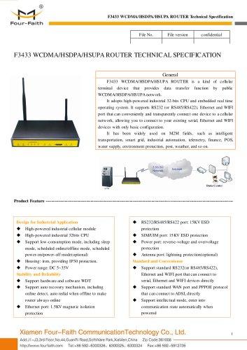 F3433 WCDMA&HSDPA&HSUPA Industrial ROUTER