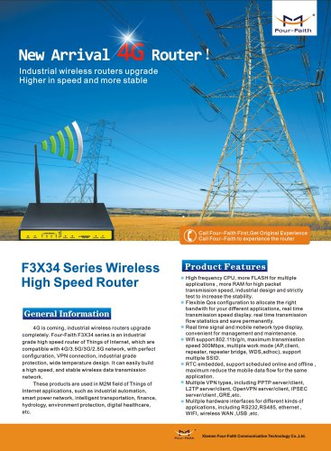 F3434 Industrial Bus Wifi Advertising Router Application